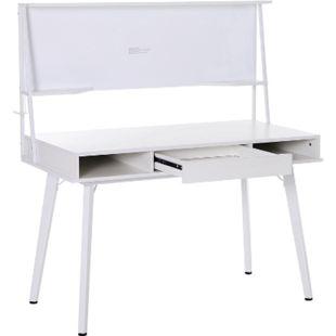 HOMCOM Schreibtisch mit Whiteboard 127,5 x 60 x 133,5 cm (LxBxH) | Bürotisch mit Tafel Arbeitstisch Computertisch - Bild 1