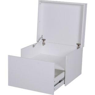 HOMCOM Schuhschrank mit Schublade weiß 70 x 60 x 42 cm (BxTxH) | Truhenschrank Schuhregal Aufbewahrung Flurmöbel - Bild 1