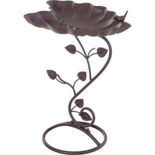Outsunny Vogeltränke in Lotosblatt-Form bronze 38,5 x 31 x 52 cm (LxBxH) | Vogelbad Vogelbecken Gartendeko Garten - Bild 1