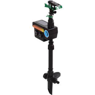 Outsunny Wasserstrahl-Tiervertreiber mit Bewegungssensor schwarz 19 x 8 x 64 cm (LxBxH) | Tierschreck Vogelscheuche Vogelschreck Katze - Bild 1