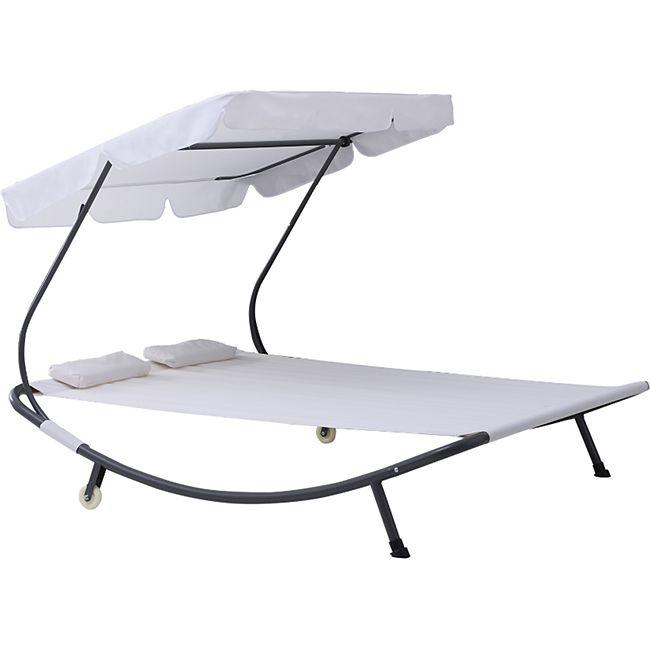 outsunny doppelliege mit dach 200 x 170 x 134 cm lxbxh. Black Bedroom Furniture Sets. Home Design Ideas