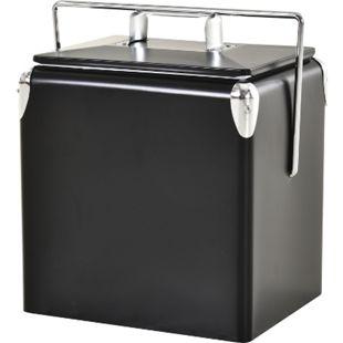 Outsunny Kühlbox 30 Liter schwarz 29 x 24 x 35 cm (LxBxH) | Weinkühler mit Tragegriff Kühlbehälter Warmhaltebox - Bild 1