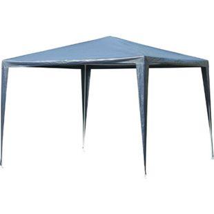 Outsunny Pavillon mit wasserabweisendem Dach blau, weiß 300 x 300 x 245 cm (LxBxH) | Gartenpavillon Gartenzelt Festzelt Partyzelt Zelt - Bild 1