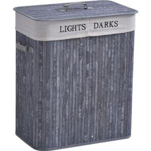HOMCOM Wäschekorb mit 2 Tragegriffen 52 x 32 x 63 cm (LxBxH) | Wäschesammler Wäschetruhe Wäschekörbe Wäschebox - Bild 1