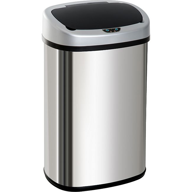 HOMCOM Kücheneimer mit Infrarotsensor silber 40,9 x 28,9 x 64,3 cm (LxBxH) | Automatik Mülleimer Abfalleimer Müll Abfall - Bild 1