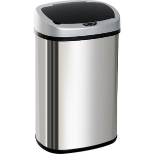 HOMCOM Abfalleimer mit Infrarotsensor silber 40,9 x 28,9 x 75 cm (LxBxH) | Automatik Mülleimer Kücheneimer Müll Abfall - Bild 1