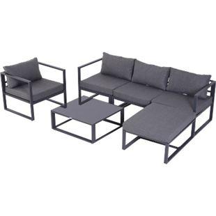 Outsunny Gartengarnitur für 4–5 Personen grau | Gartenset Gartensofaset Sitzgruppe Gartenmöbel - Bild 1