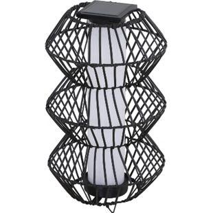 Outsunny LED Solarleuchte kaffeebraun 32 x 56 cm (ØxH) | Stehleuchte Rattan Gartenlampe Wegbeleuchtung - Bild 1