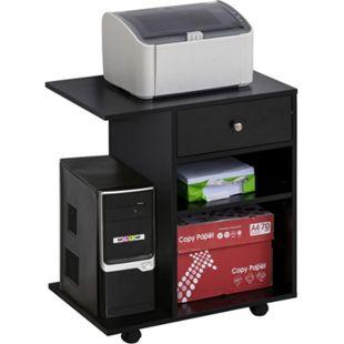 Vinsetto Mobile Büroschrank 60 x 40 x 68,5 cm (BxTxH) | Druckerständer auf Rollen Büromöbel Druckerablage - Bild 1