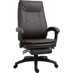 Vinsetto Bürostuhl mit Fußstütze 64 x 64 x 112-120 cm (BxTxH) | Chefsessel Gamingstuhl Drehstuhl Schreibtischstuhl - Bild 1