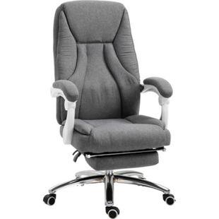 Vinsetto Bürostuhl mit Massagefunktion grau 62 x 67 x 113-120 cm (BxTxH) | Massagesessel Schreibtischstuhl Chefsessel Drehstuhl - Bild 1