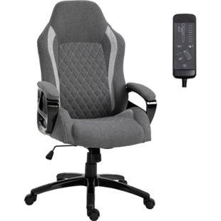 Vinsetto Bürostuhl mit Massagefunktion grau 64 x 68,5 x 116,5-124 cm (BxTxH) | Drehstuhl Schreibtischstuhl Chefsessel Massagestuhl - Bild 1
