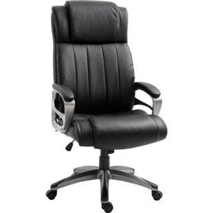 Vinsetto Chefsessel mit Massagefunktion 64,5 x 79 x 115-126 cm (BxTxH) | Massagesessel Schreibtischstuhl Drehstuhl Bürostuhl - Bild 1