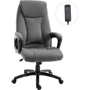 Vinsetto Bürostuhl mit Massagefunktion grau 66 x 70 x 114-122 cm (BxTxH) | Massagesessel Schreibtischstuhl Chefsessel Drehstuhl - Bild 1