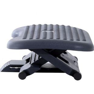 HOMCOM Fußstütze höhenverstellbar schwarz 46 x 35 x (11-17) cm (LxBxH) | Fussstütze Fußablage Relax Fuß Stütze für Büro - Bild 1