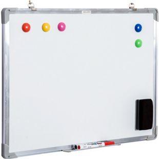 HOMCOM Magnettafel inklusive Zubehör weiß 60 x 45 cm (BxH) | Whiteboard Wandtafel Weißwandtafel Boardmarker - Bild 1