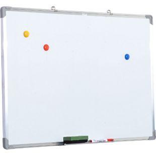 HOMCOM Whiteboard inklusive Zubehör weiß 90 x 60 cm (BxH) | Magnettafel Wandtafel Weißwandtafel Boardmarker - Bild 1