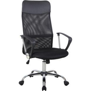 HOMCOM Bürostuhl ergonomisch schwarz 57 x 56 x 114-124 cm (BxTxH) | Drehstuhl Chefsessel Schreibtischstuhl Büromöbel - Bild 1