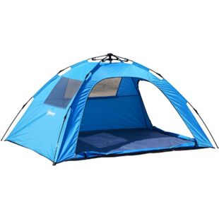 Outsunny Pop Up Zelt wasserdicht blau 223 x 150 x 110 cm (LxBxH) | Campingzelt Sekundenzelt Strandzelt Iglu-Zelt - Bild 1