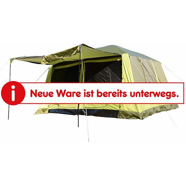 Outsunny Familienzelt für 4-8 Personen gelbgrün 410 x 310 x 225 cm (LxBxH)   Campingzelt Kuppelzelt Schlafkabine Vorzelt - Bild 1