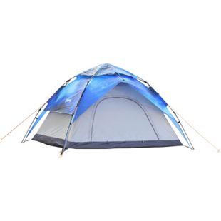 Outsunny Campingzelt für 3-4 Personen Sternenhimmel 200 x 230 x 140 cm (LxBxH) | Kuppelzelt Multifunktionszelt Sonnenschutz Zelt - Bild 1