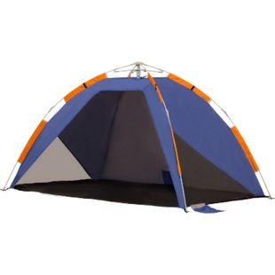Outsunny Strandmuschel für 2-3 Personen dunkelblau 210 x 140 x 120 cm (LxBxH) | Pop up Zelt Outdoorzelt Strandzelt Gartenmuschel - Bild 1