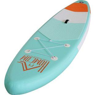 HOMCOM Aufblasbares Surfbrett mit Paddel grün, orange, weiß 305 x 76 x 15 cm (LxBxH) | Surfboard inkl. Ausrüstung Board aufblasbar Strand - Bild 1