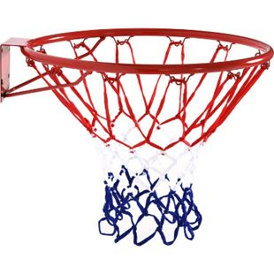 HOMCOM Basketballkorb mit Netz rot, blau, weiß 46 x 46 cm (ØxH) | Basketball Ballspiele Korb Backboard Basketballring - Bild 1