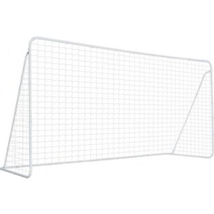 HOMCOM Fußballtor mit Tragetasche weiß 366 x  183 x 122 cm (BxTxH) | Trainingstor Trainingsnetz Tor mit Netz Ballspiel - Bild 1