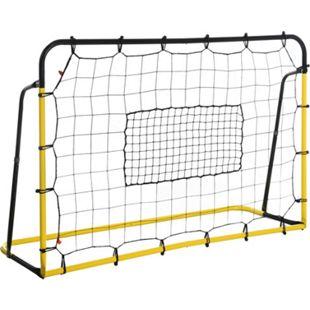 HOMCOM Fußballnetz für mehrere Ballsportarten gelb, schwarz 184 x 63 x 123 cm (BxTxH)   Fußballtor Basketballkorb Baseball Netz Gartenspielzeug - Bild 1