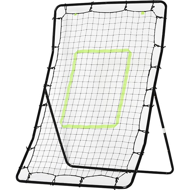 HOMCOM Fußball Rebounder schwarz 80 x 90 x 140 cm (LxBxH) | Trainingstor Torprallwand Rückpralltor Ballspiel - Bild 1