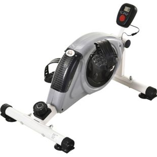 HOMCOM Heimtrainer mit LCD-Display grau 40 x 62 x 38 cm (LxBxH) | Rollentrainer Mini Bike Pedaltrainer Trainingsgestell - Bild 1