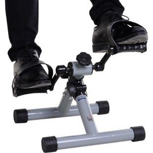 HOMCOM Mini-Heimtrainer faltbar und stufenloser Widerstand silbergrau 33 x 34 x 32 cm (BxTxH) | Fahrradpedaltrainer Trimmrad Rollentrainer Mini Bike - Bild 1