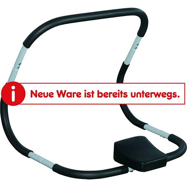HOMCOM Bauchtrainer mit Kopfkissen schwarz, weiß 65 x 68 x 60 cm (LxBxH) | Bauchmuskeltrainer Fitnessgerät AB Roller Trainer - Bild 1