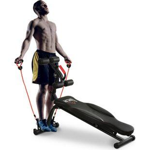 HOMCOM Multifunktions-Trainingsbank für Arme, Beine und Hüften schwarz 150  x  45 x 77-85  cm (LxBxH) | Hantelbank Krafttraining Fitnessgerät Trainingsgerät - Bild 1