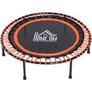 HOMCOM Trampolin für Kinder und Erwachsene schwarz, orange 101,6 x 25 cm (ØxH) | Mini-Trampolin Gartentrampolin Kindertrampolin - Bild 1