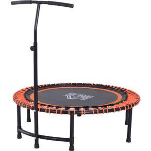 HOMCOM Fitness-Trampolin mit Haltegriff schwarz, orange 114,3 x 122-138 cm (ØxH) | Gartentrampolin Yogatrampolin Trainingstrampolin - Bild 1