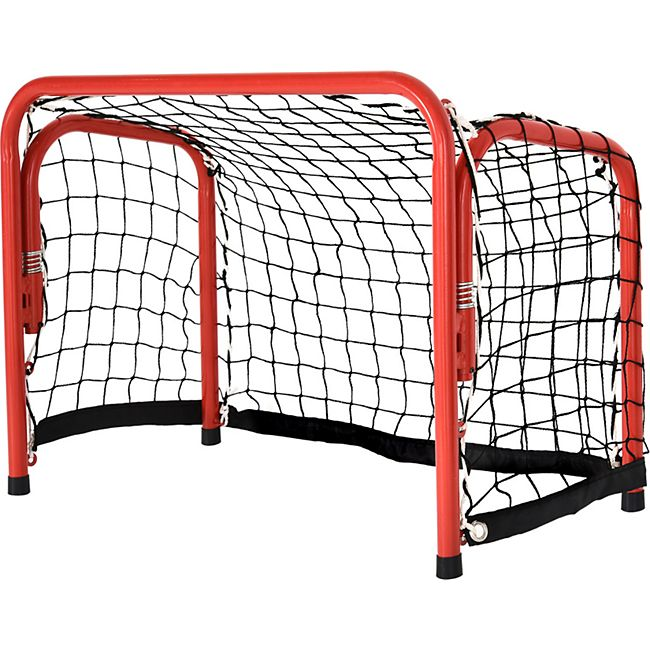 HOMCOM Hockeytor klapp- und tragbar rot, schwarz 66 x 46 x 33 cm (BxTxH)   Fußballtor Trainingstor Torprallwand Trainingsnetz - Bild 1