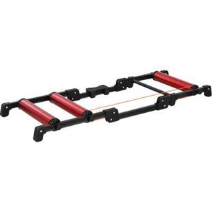 HOMCOM Rollentrainer einklappbar rot, schwarz 146 x 55 x 10,5 cm (LxBxH) | Fahrradtrainer Rennradtrainer Heimtrainer Training - Bild 1