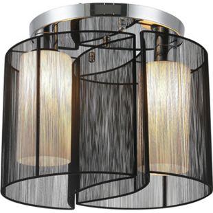 HOMCOM Deckenlampe 2-flammig schwarz 47,5 x 33 cm (ØxH) | Deckenleuchte Deckenstrahler Vintage Lampe Leuchte - Bild 1
