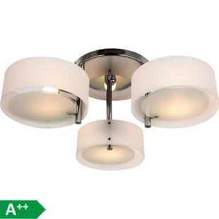 HOMCOM Deckenlampe 3-flammig weiß 64 x 20 cm (ØxH) | Hängeleuchte Hängelampe Kronleuchter Wohnzimmer - Bild 1
