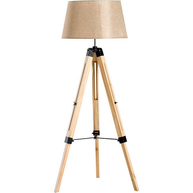 HOMCOM Stehlampe höhenverstellbar 65 x 65 x (99-143) cm (LxBxH)   Wohnzimmerlampe Standleuchte Stehleuchte Lampe - Bild 1