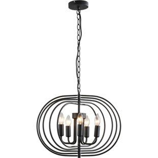 HOMCOM Deckenlampe im Vintagestil schwarz 50 x 40 cm (ØxH) | Pendelleuchte Hängeleuchte Deckenleuchte Lampe - Bild 1