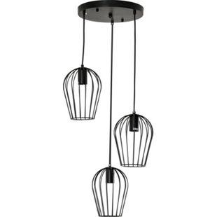 HOMCOM Pendelleuchte mit dem Metalldrahtkäfig-Design schwarz 38 x 145 cm (ØxH) | Deckenlampe Hängeleuchte Hängelampe Deckenleuchte - Bild 1
