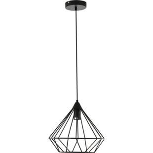 HOMCOM Pendelleuchte mit geometrischem Lampenschirm schwarz 32 x 153 cm (ØxH) | Deckenlampe Hängeleuchte Hängelampe Deckenleuchte - Bild 1