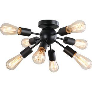 HOMCOM Deckenleuchte in Sputnikform schwarz 36 x 21 (ØxH) | Wohnzimmerlampe Deckenlampe Deckenstrahler Beleuchtung - Bild 1