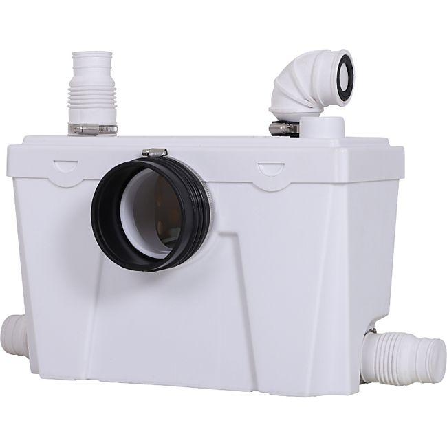 HOMCOM Abwasserpumpe für WC & Dusche weiß 40 x 29 x 28 cm cm (LxBxH)   Kleinhebeanlage Hebeanlage Schmutzwasserpumpe - Bild 1