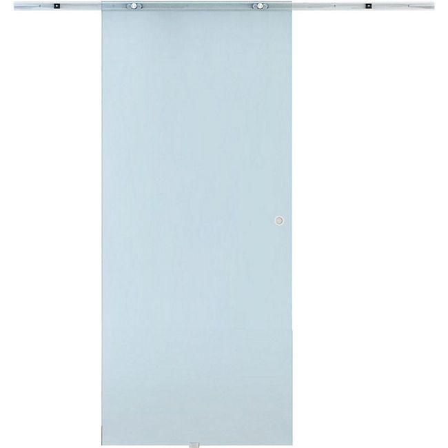 HOMCOM Glasschiebetür transparent | Zimmertür teilsatiniert Schiebetür Glastür Tür - Bild 1