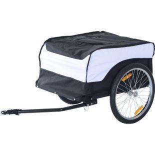 HOMCOM Transportanhänger fürs Fahrrad 135 x 75 x 64 cm (LxBxH)   Transportanhänger Lastenanhänger Fahrrad Anhänger - Bild 1