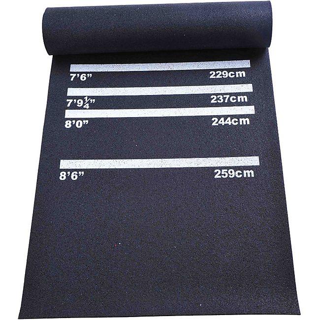 HOMCOM Dartmatte für Steel- und Softdart schwarz 300 x 61 x 0,3 cm (LxBxH) | Gummimatte Bodenmatte Matte Teppich Steeldart - Bild 1